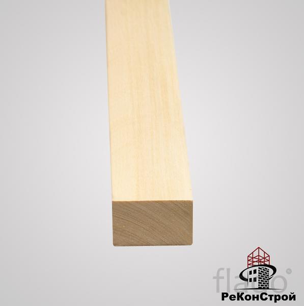 Брусок сухой строганный Липа, 1 сорт, 20x20 мм