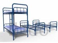 Кровати металлические трехъярусные для рабочих в общежитие, кровати ме