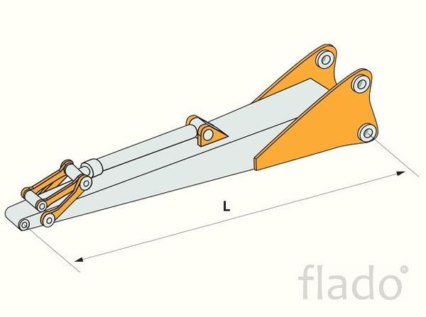 Удлинитель 4 метра с гидроцилиндром на экскаваторы 40 - 50 тонн