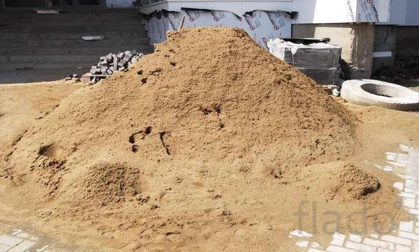 Песок, гравий, щебень.