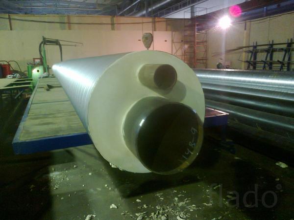 Производим трубы ППУ от 57 мм до 1020 мм ПЭ/ОЦ оболочке