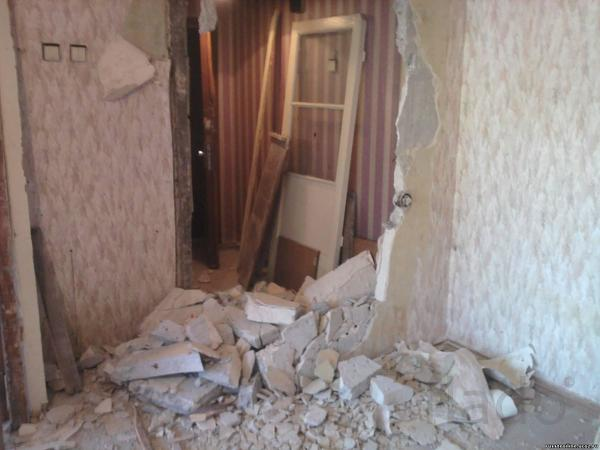 демонтаж перегородок и стен