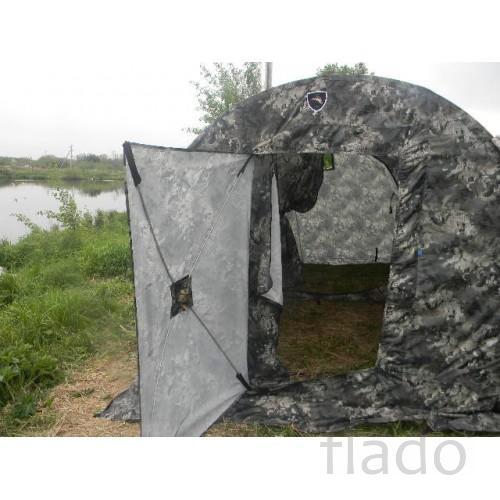 МоПоходная баня ПБ-2 с тамбуром (печь в комплекте)
