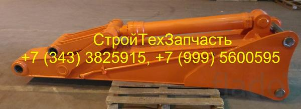 Гусек удлинитель 5000 мм с гидроцилиндром на экскаваторы 46 - 60 тонн