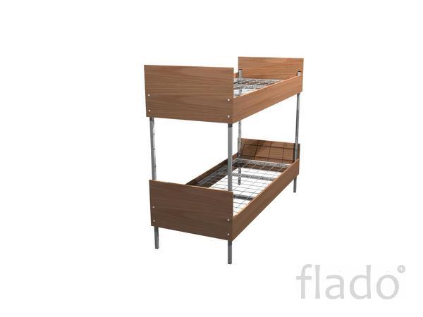 Деревянные кровати, Кровати металлические с деревянными спинками