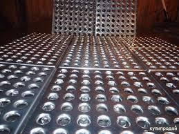 напольная плитка стальная перфорированная