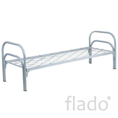 Кровати на металнлкаркасе со спинками и основнием