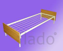 Кровати на металлкардкасе со спинками ДСП для рабочих и строителей