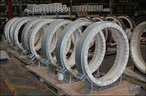 Мы производим конструкции опор и подвесок стальных трубопроводов