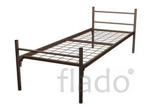 Кровати на металлкарекасе со спинками оптом с доставкой
