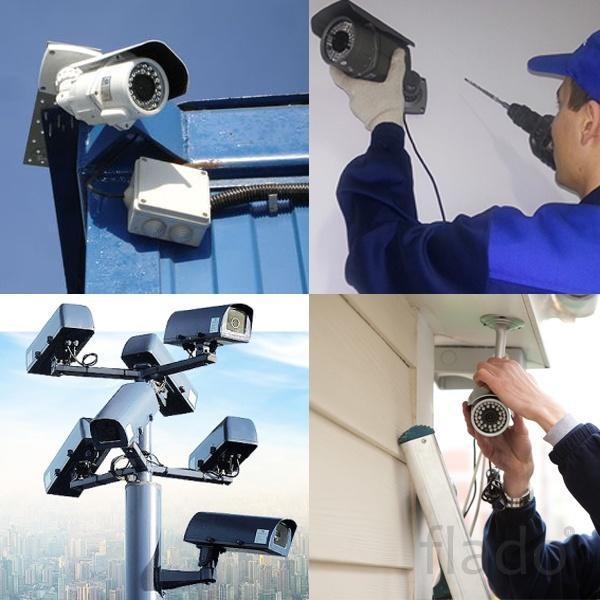 Установка видео наблюдения ip и аналог за 24 гарантией.