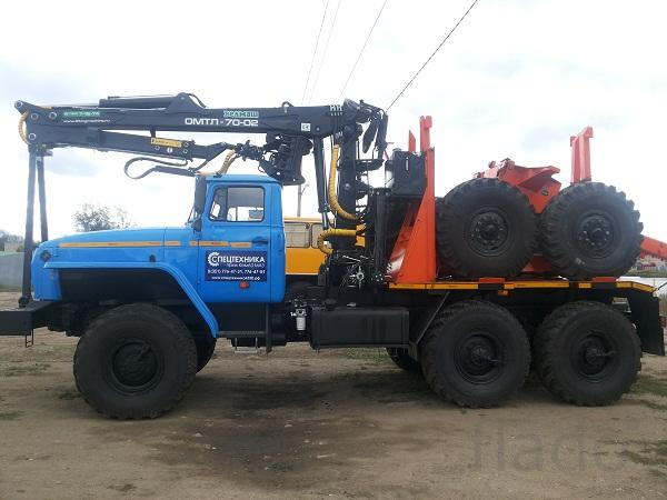 Новые лесовозы Урал 55571, с манипуляторами Лизинг