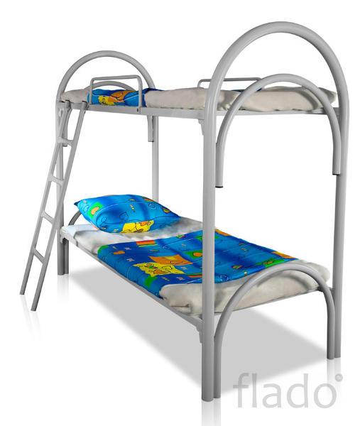Двухъярусные кровати металлические, Кровати в детский лагерь, турбазы