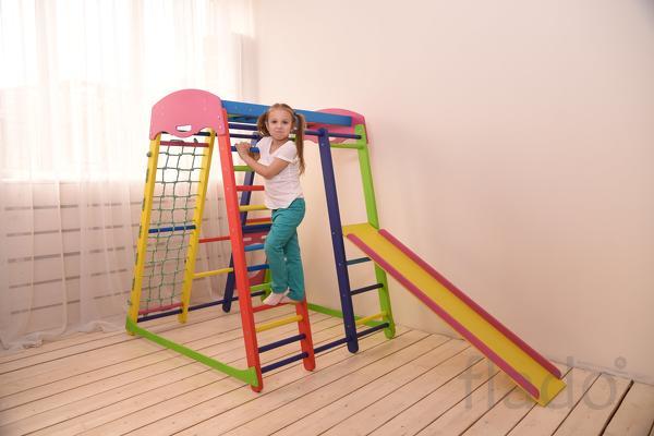 Деревянный спорткомплекс для детей Салют