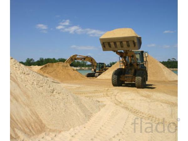 Песок мытый, строительный