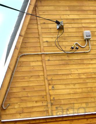 Замена старых проводов ЛЭП на дом, участок