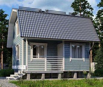 Строим деревянные дачный домики эконом класса