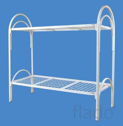 Кровати металлические с сеткой из прокатной пружины для домов отдыха.