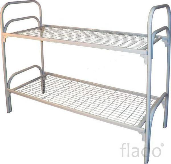 Бюджетные кровати металлические для размещения постояльцев в гостинице