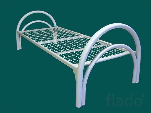 Одноярусные кровати металлические эконом класса для больниц, клиник
