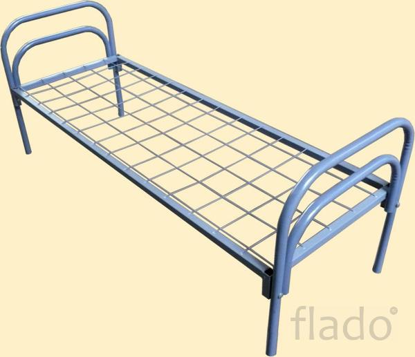 Металлические кровати с дсп спинками для больниц, кровати оптом.