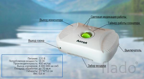 Озонатор-ионизатор бытовой АЛТАЙ от производителя.