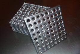 плитка для пола стальная, перфорированная