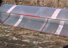 Парник из поликарбоната с открывающимся верхом