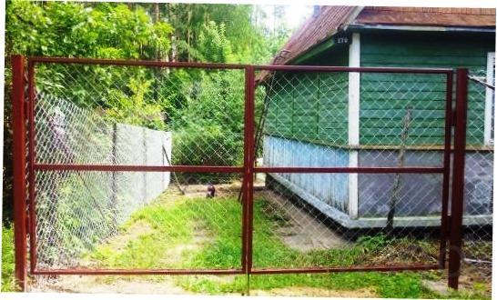 Ворота распашные садовые, калитки. Доставка по области бесплатная