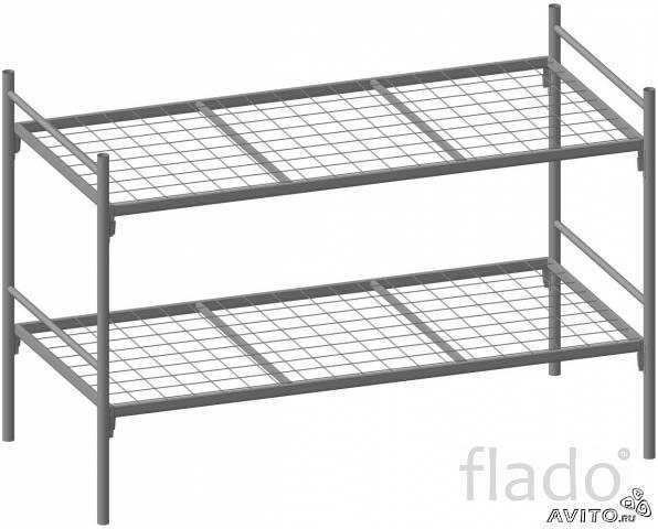 Кровати 2 ярусные металлические, армейские кровати