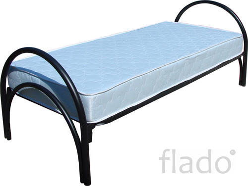 Кровать металлическая белая кровати для турбаз