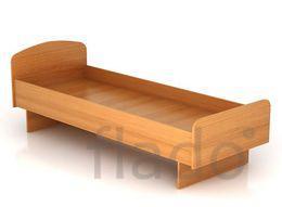 Кровать  металлическая одноярусная из 32 трубы с перемычкой в