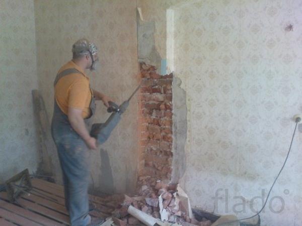 демонтаж стен кирпич новосибирск