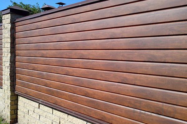 Забор под ключ, материал+монтаж, м. пог.