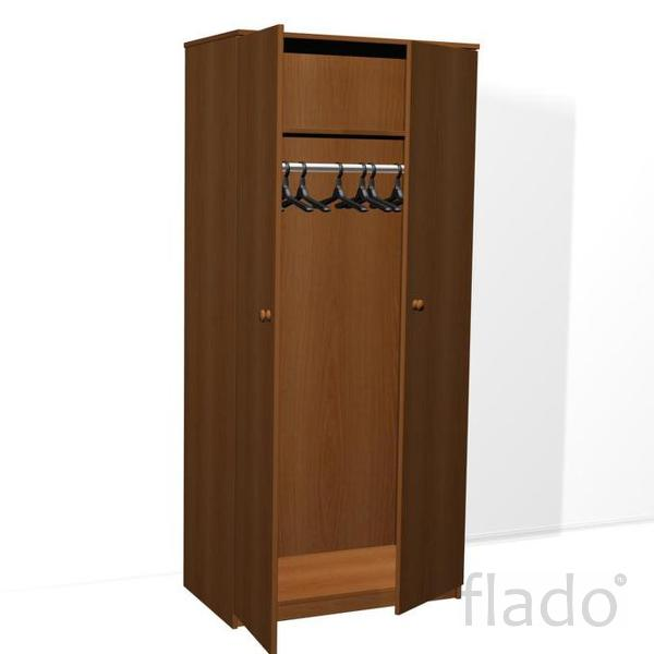 Шкаф для одежды ДСП трехдверный с антресолью комбинированный fk