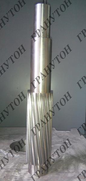 Вал-шестерня +шестерня для гранулятора ОГМ-1,5