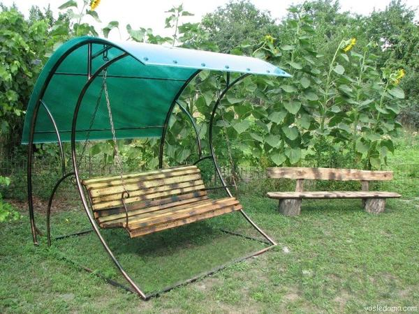 Разборные садовые качели