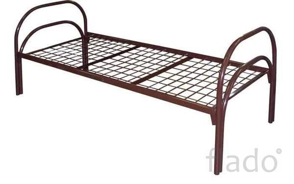 Кровать металлическая усиленная железные кровати ГОСТ