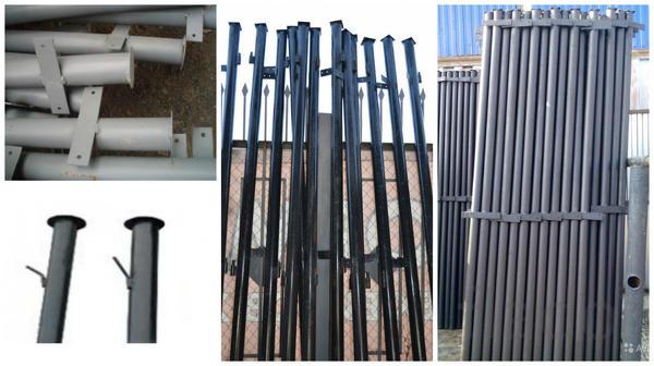 Столбы металлические в ассортименте