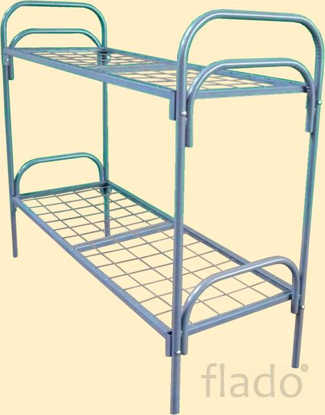 Кровать одноярусная из 51 трубы исиленная для студенческих  общежития