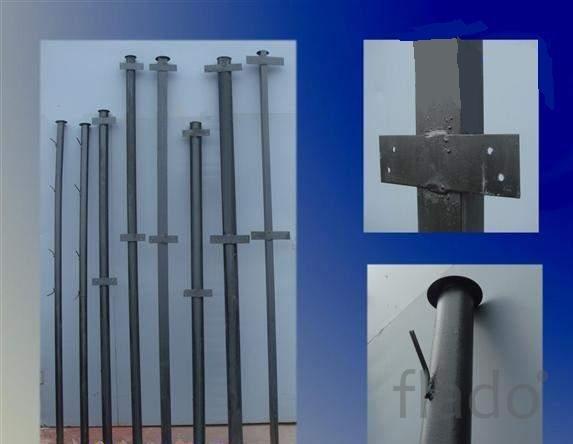 Столбы металлические для забора с доставкой по всей области