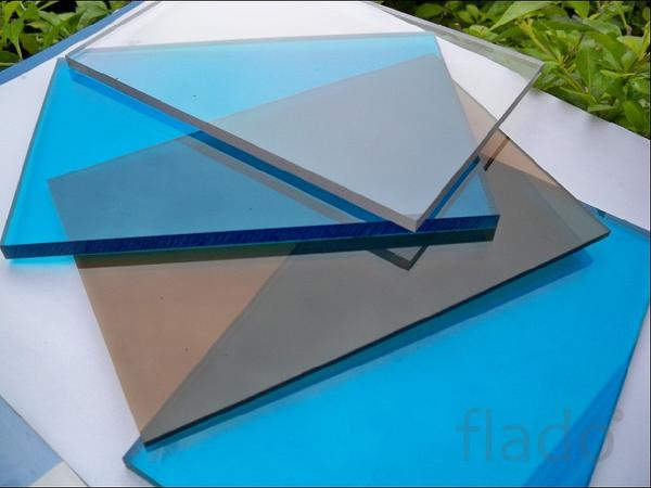 Монолитный поликарбонат  бронза 40мм размер 2050/3000м.