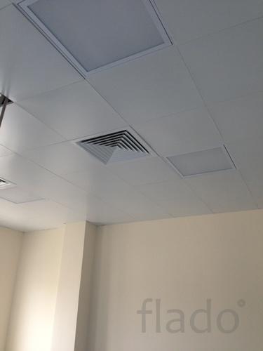 Антибактериальные потолки подвесные алюминиевые
