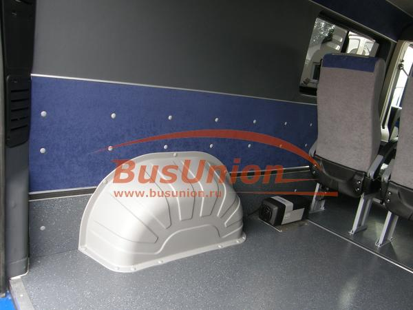 Защита колёсных арок в микроавтобус Фольксваген Крафтер