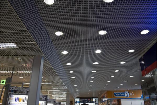 Грильято подвесные потолки алюминиевые