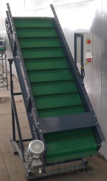 Вертикальный ленточный конвейер для овощей УПВ-1.20.