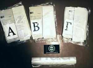 Фасовка документов по алфавиту у себя дома