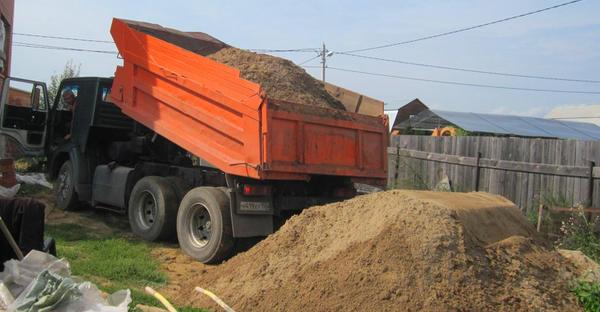 Песок речной и карьерный с доставкой 5-30 тонн