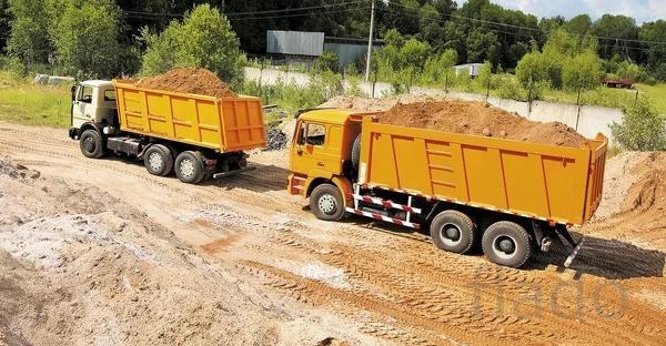 Доставка карьерного песка 5-30 тонн