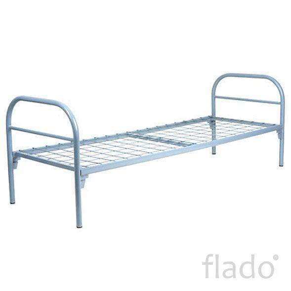 Кровать с металлическим изголовьем, кровати металлические для бытовок